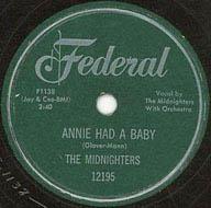 """""""Annie Had a Baby"""" by Hank Ballard & The Midnighters"""