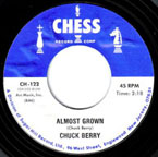 """45 rpm single of """"Almost Grown"""" by Chuck Berry"""