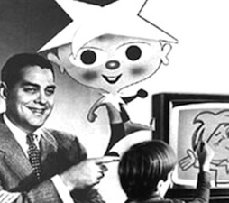 Children's TV Show Winky Dink and You with host Jack Barry