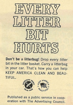 Every Litter Big Hurts campaign from Keep America Beautiful