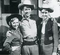 Kirby Grant, Gloria Winters, and Ron Hagerthy of Sky King