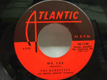 "Some doo wop music about the math teacher ""Mr. Lee"" by The Bobbettes"