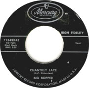 """Rock and roll classic """"Chantilly Lace"""" by The Big Bopper"""