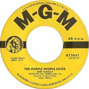"""The Purple People Eater"" by Sheb Wooley, a favorite among golden oldies novelty songs"