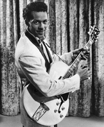 Chuck Berry and his guitar